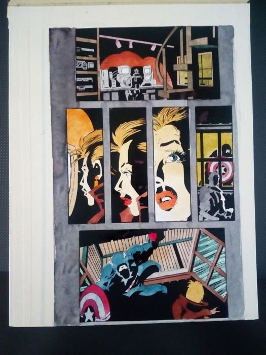 daredevil  325 - Original hand coloured / inked page with corection - Other - (1995)