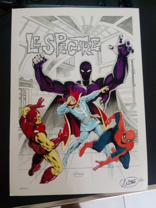 spider-man / iron man / doc strange - Limited Edition Print with original watercolors - First edition - (2017)