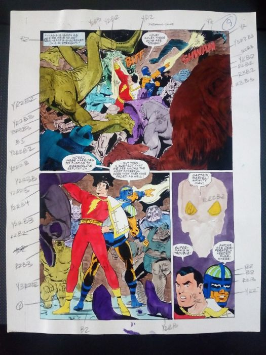 superman / batman : man of steel 10 - Original hand coloured / inked page with corection - Other - (1996)