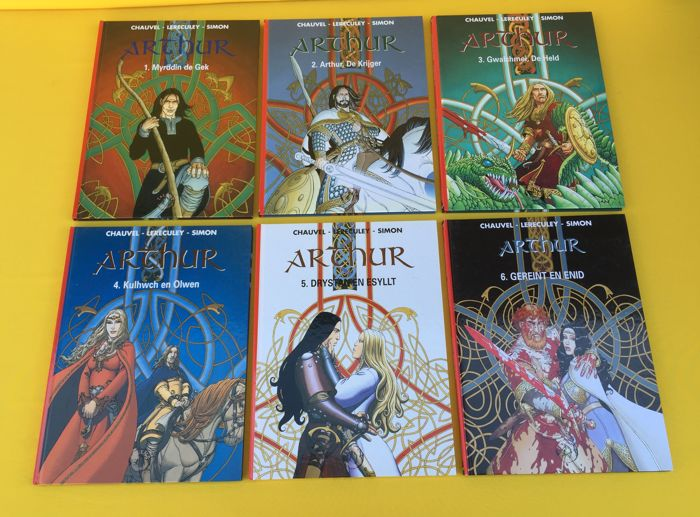 Arthur 1 t/m 6  - Complete reeks - Hardcover - First edition - (1999/2004)