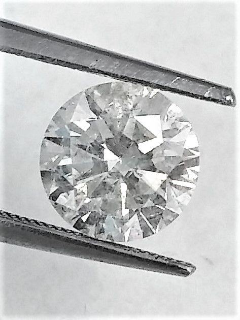 Round Brilliant Cut  - 2.17 carat  - G color  - SI1 clarity  - 3 x EX - Natural Diamond  - With AIG Big Certificate + Laser Inscription On Girdle