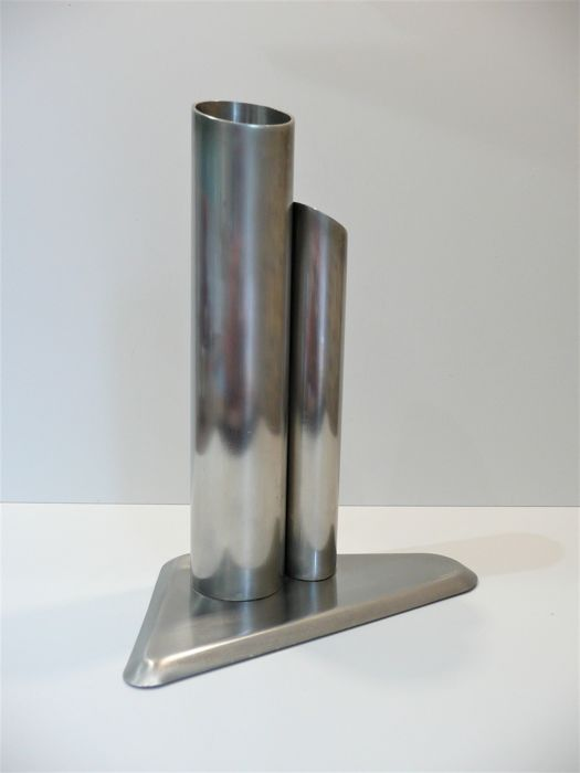 Signed Ff Stainless Steel Tubi Vase Catawiki