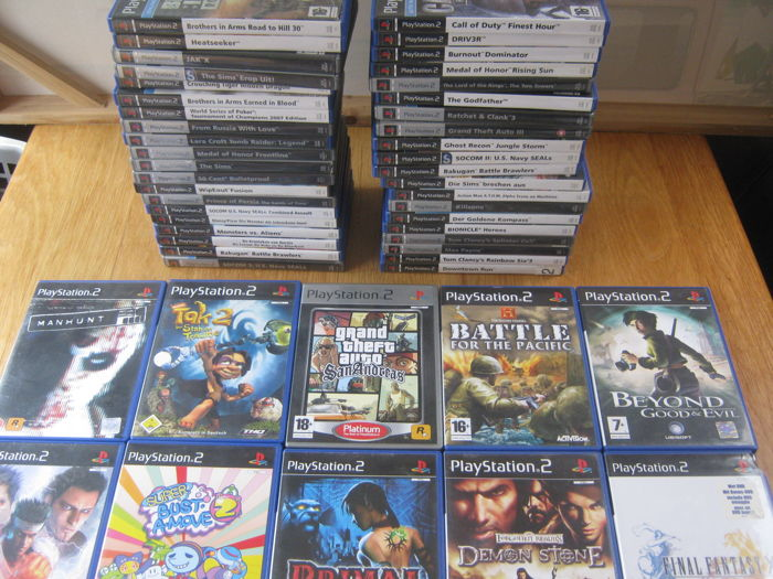 50 original sony ps2 games some are rare games like manhunt super bust a move tak 2 primal gta san andreas and more catawiki