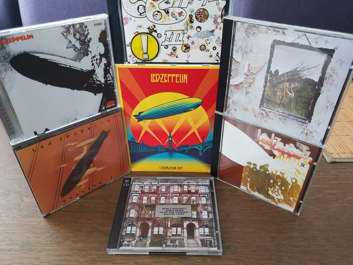 lot 39 s of 7 cds from led zeppelin with a double remasters collection cd and dvd celebration day. Black Bedroom Furniture Sets. Home Design Ideas