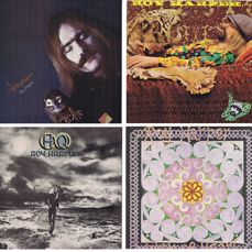 "ROY HARPER - lot of 4 LPs + free 7"" 45: 1. Folkjokeopus 2. Flat Baroque And Beserk 3. HQ 4. Work Of Heart (+ free PS 45)"