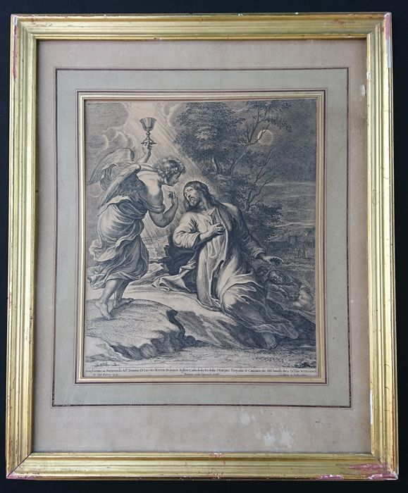 Christ on the Mount of Olives (Gethsemane) - Print of the 17th after Rubens