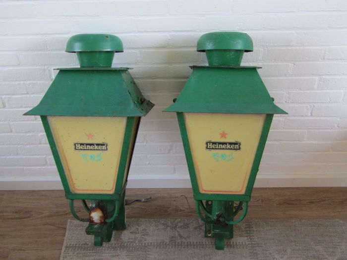 Original Heineken Wall lanterns 1950/60