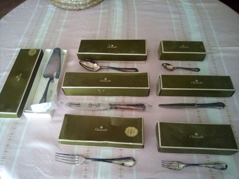 Christofle cutlery, 6 x 6 utensils + 1 cake server