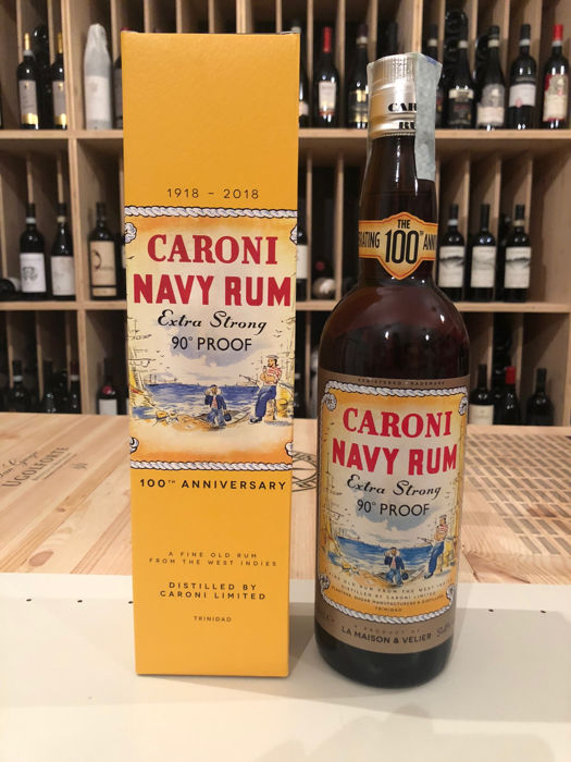 Caroni Navy Rum 90° Extra Strong Proof - 100th Anniversary of the Distillery
