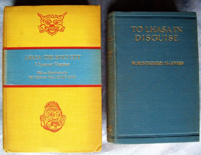 F. Spencer Chapman & W. Montgomery McGovern - Lhasa The Holy City & To Lhasa in Disguise for sale