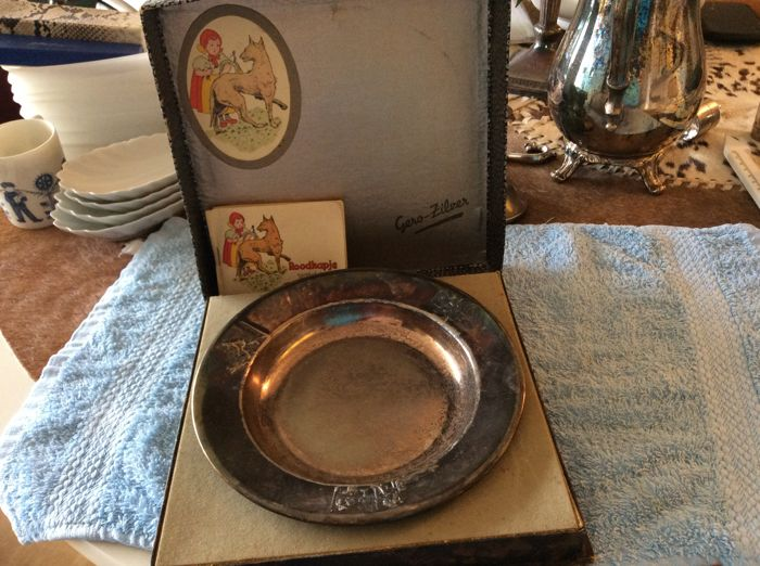 Gero silver children's plate of red riding hood