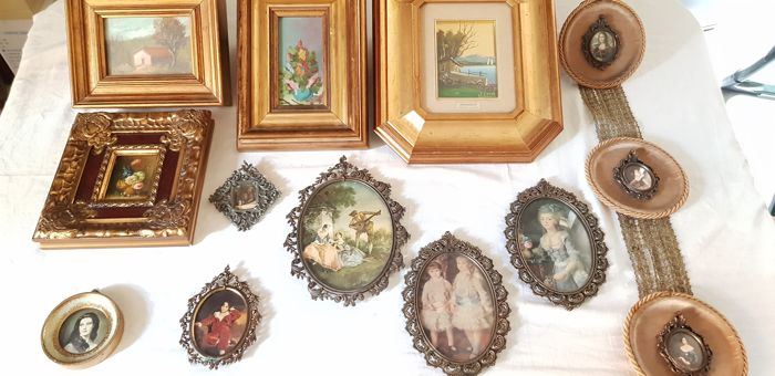 Interesting Lot Of Various Shapes And Dimensions Paintings