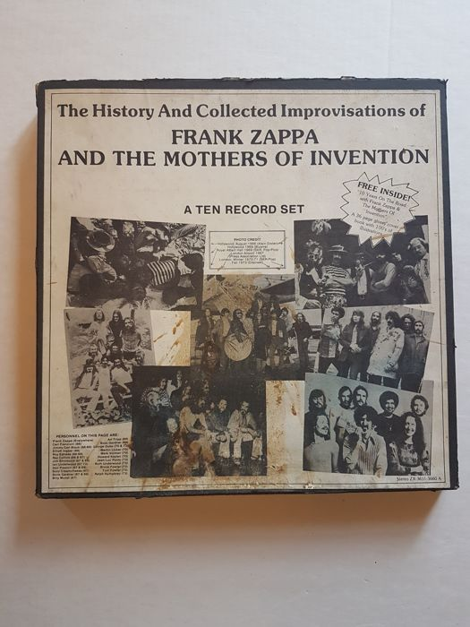 The History and Collected Improvisations of Frank Zappa and the Mothers of Invention 10xlp Box set