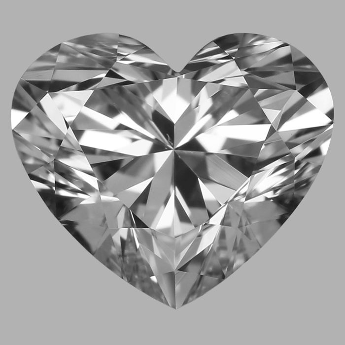 0.70 Heart Brilliant FVS1  With Gia Certificate