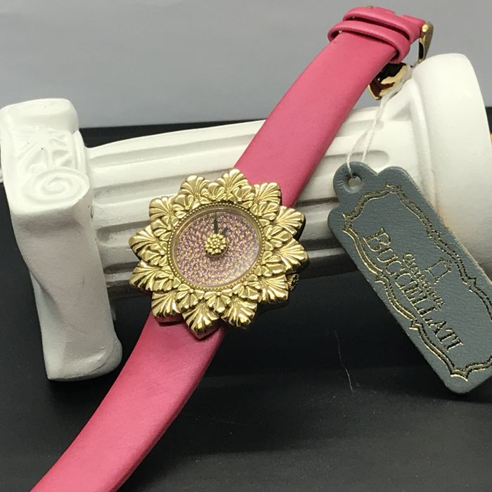 BUCCELATI - 18K yellow gold with full ruby pave dial  - 00C2-DS07-LL-YG - Damen - 2011-heute