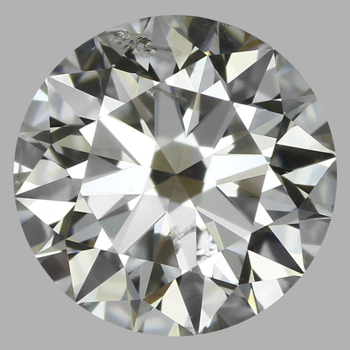 Round Brilliant Diamond 0.70 I SI2 with Gia  EX cut