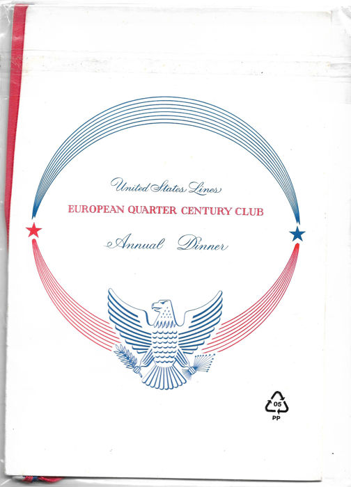 United States lines, annual dinner of the 'EUROPEAN QUARTER CENTURY CLUB' 1967 with the participation of the American and French presidents