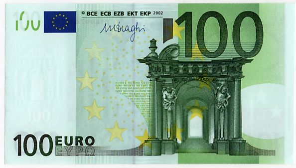 european union germany 100 euro 2002 draghi white. Black Bedroom Furniture Sets. Home Design Ideas