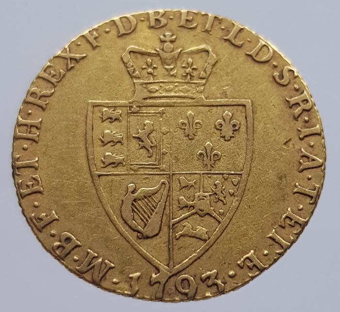 Great Britain - - Guinea 1793 George III - Gold