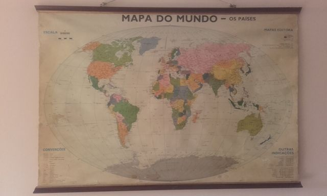 Old school world map (Portugal 1950) - Catawiki