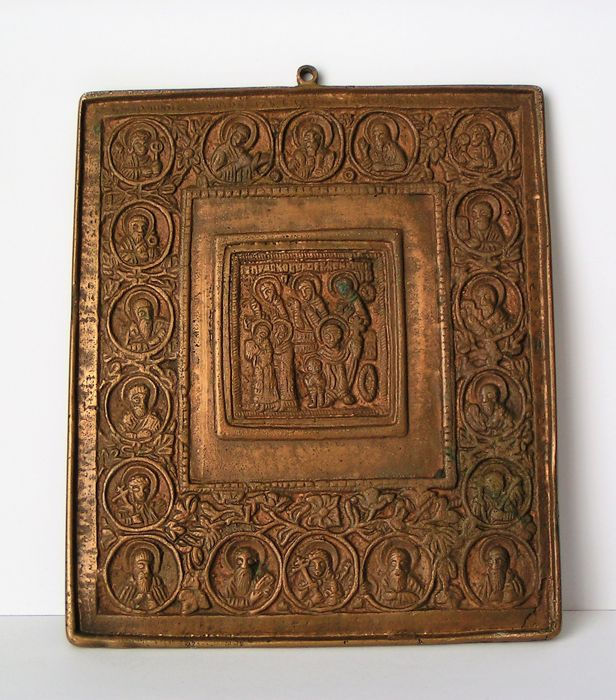 Orthodox icon - rarity - large - chiselled - Russia - 19th century