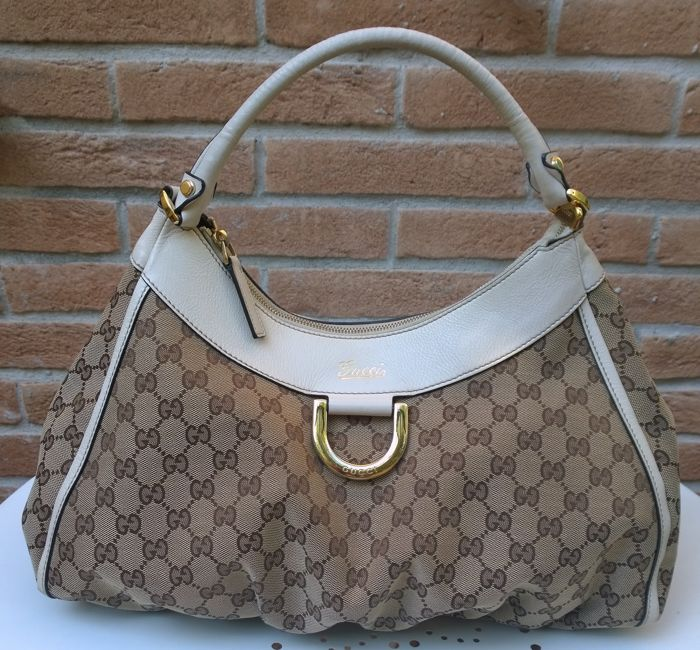 4c6a6001a09f Gucci - Monogram D Hobo Shoulder bag - Catawiki