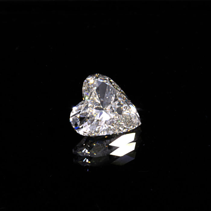 0.45 Ct. Natural G Color SI2 Heart shape Diamond.