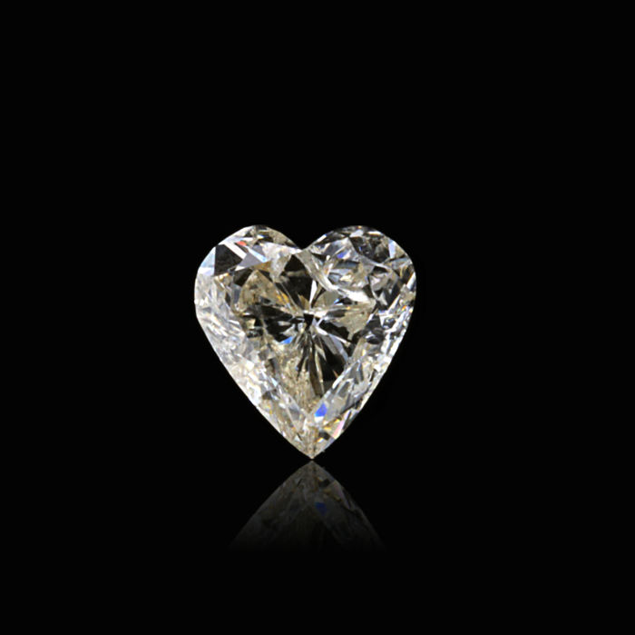 0.64 Ct. Natural H Color I1 Heart shape Diamond.
