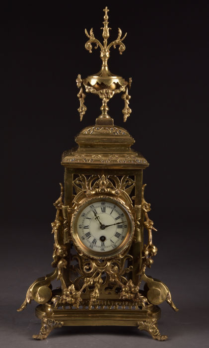 Pendulum clock - Bronze - Second half 19th century