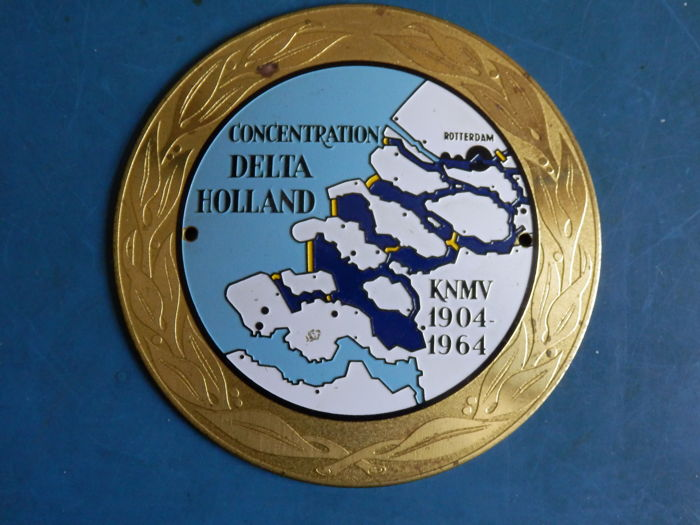 Car - Grill- Badge Embleem - Delta Holland - KNMV  - 1 - Metaal