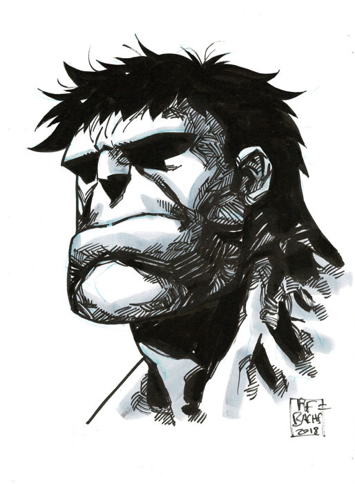 The Hulk - Original Drawing - Ramon Bachs - First edition