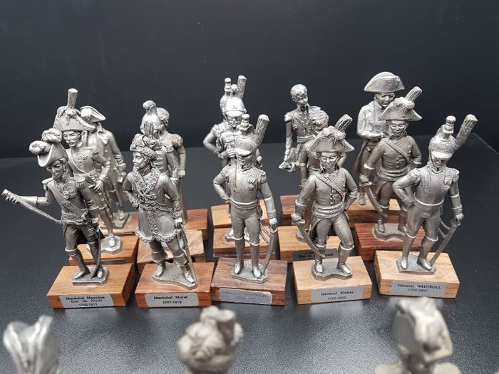Les Etains Du Prince - 20 Figurines - Napoleon Period 1st French Empire -  Catawiki