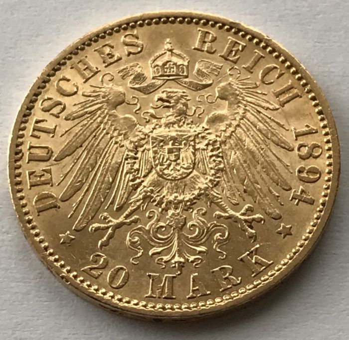 Germany - Prussia - 20 Mark 1894-A Wilhelm II. - Gold