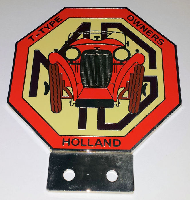 Decoratief object - Auto Grille badge - MG T-type Owner Holland - 1990 (1 items)