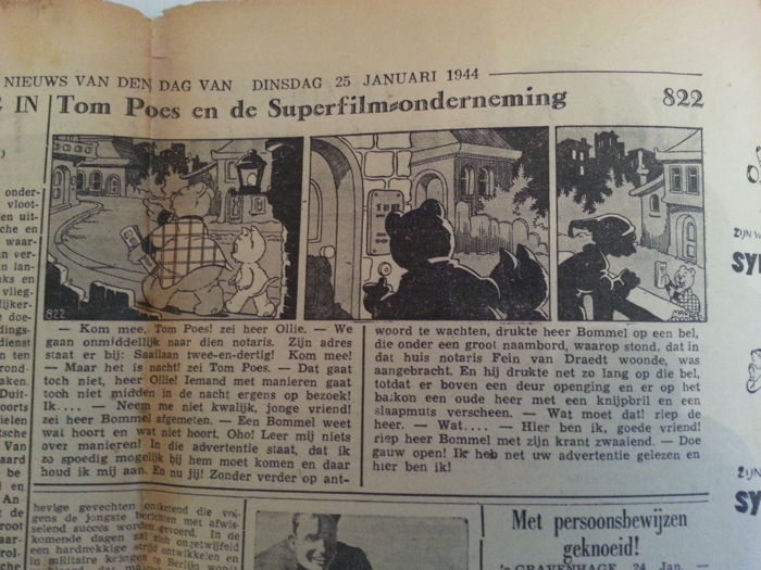 Marten Toonder - Oorlogsstrip - Tom Poes en de Superfilmonderneming - 1944/1944