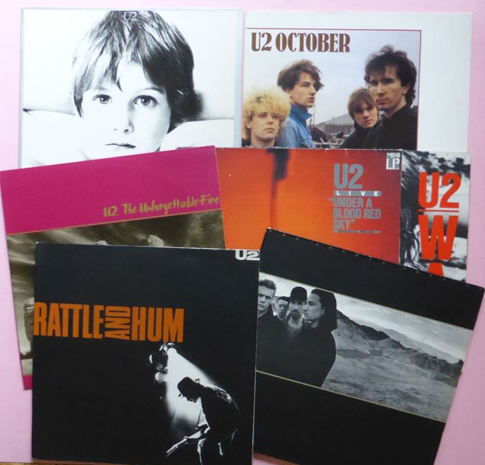 Nice set of 7 early U2 albums