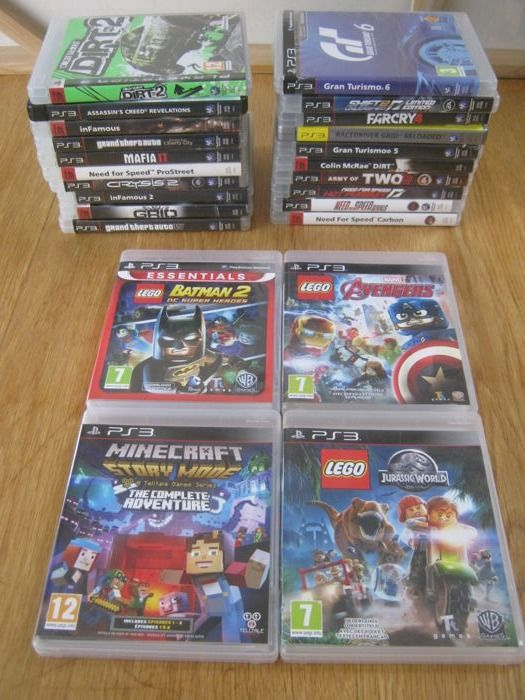 24 Sony Ps3 Games Some Are Rare Lego Batman 2 Lego Avengers