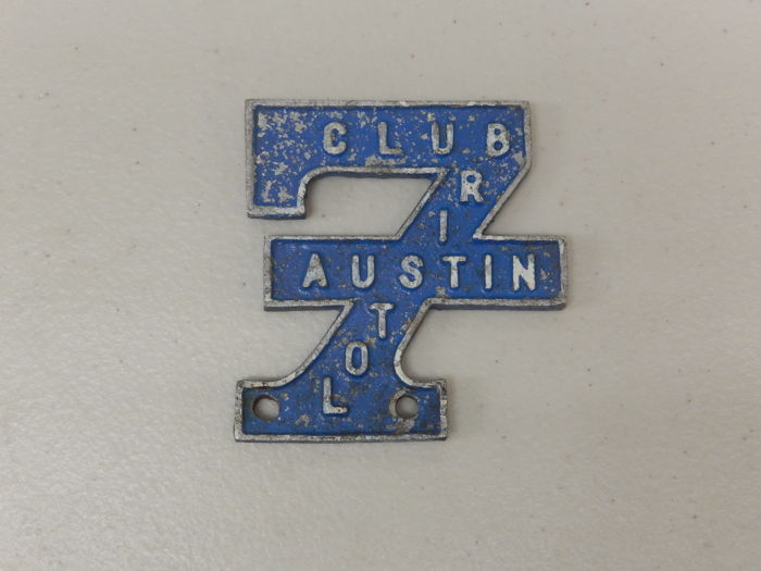 Badge - Aluminium Bristol Austin Seven 7 Club Car Badge - 1950