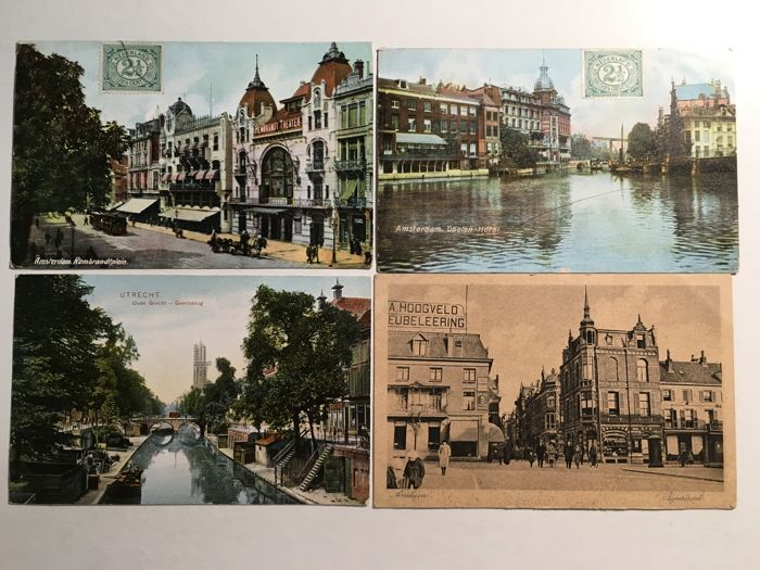 THE NETHERLANDS: Lot of 68 postcards of different places (1900 / 1935)