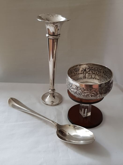 Antique Silver Tablespoon Netherlands Year Letter T 1828 Heavy