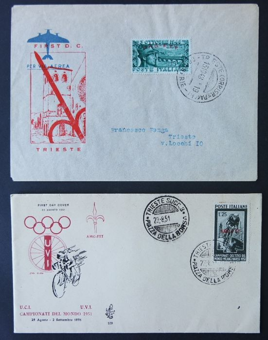 Triest - Zone A - lot of envelopes fdc