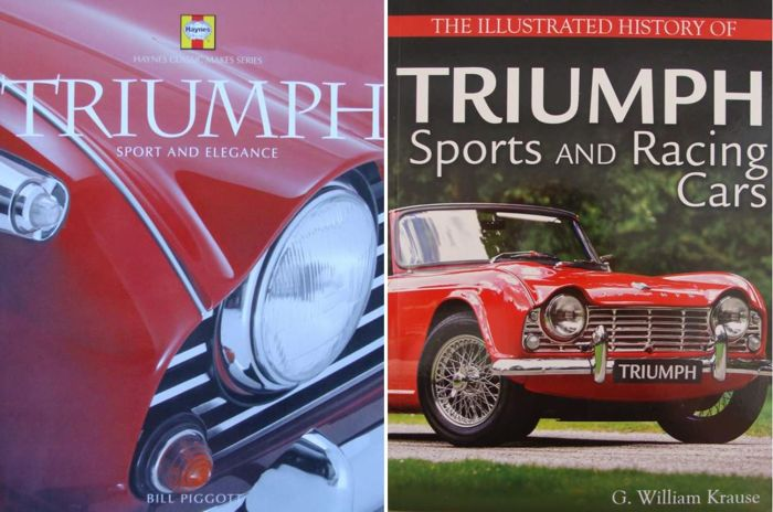 Böcker - History of Triumph Sports and Racing Cars - 2017 (2 föremål)
