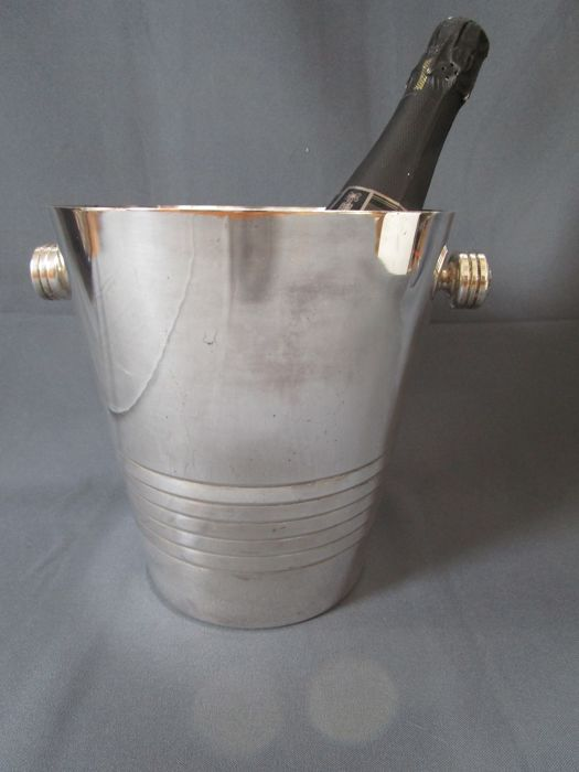 Art Deco champagne cooler - manufacturer brand - silver-plated - 1st half of the 20th century