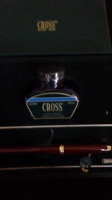 Cross pen with inkwell