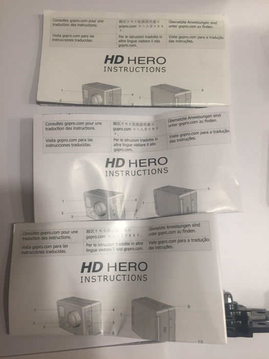 Go Pro Hero With Extra Bacpac Screen Used Three Times With Many