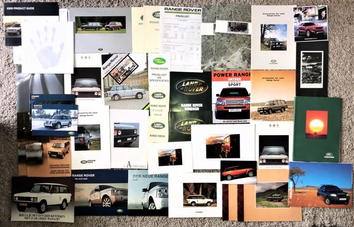 Brochures / Catalogi - Verzameling Land Rover Range Rover folders. - 2014-1975 (39 items)