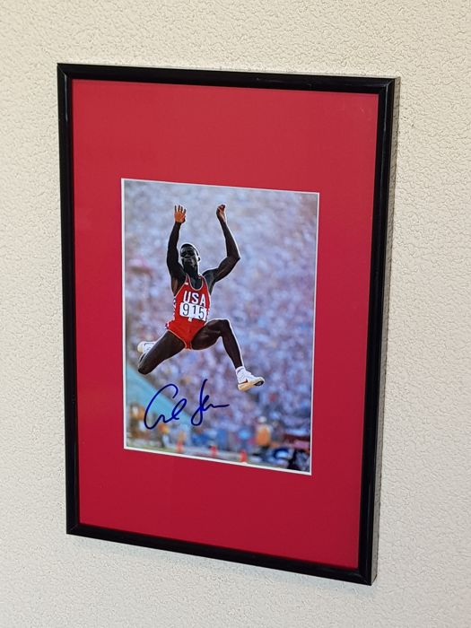 Carl Lewis -  Olympic legend Los Angeles 1984 - hand signed framed photo + COA