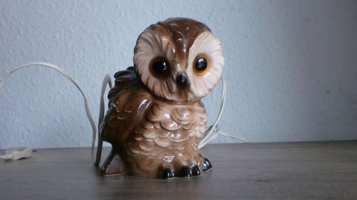 Porcelain smoke dispeller - Codger owl - 1920-1950s - brands Goebel/Hummel.
