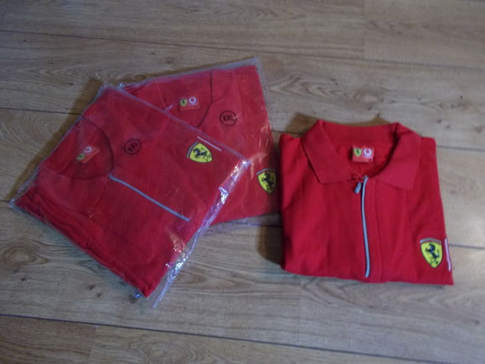 "3 polo shirts ""FERRARI/VODAFONE"" and 3 t-shirts ""NEW BEETLE""-XXL and XL"