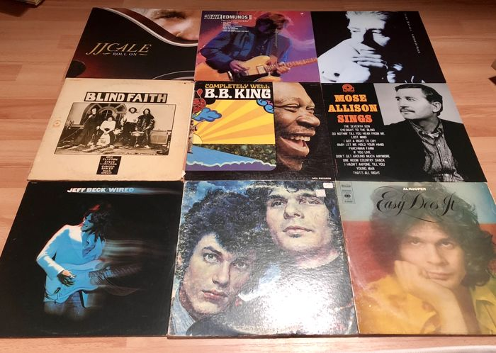 Great Blues lot with 9 top albums;JJ.Cale,B.B.King,Mose Allison,Jeff Beck,Blind Faith,John Mayall,2x Al Kooper,Dave Edmunds